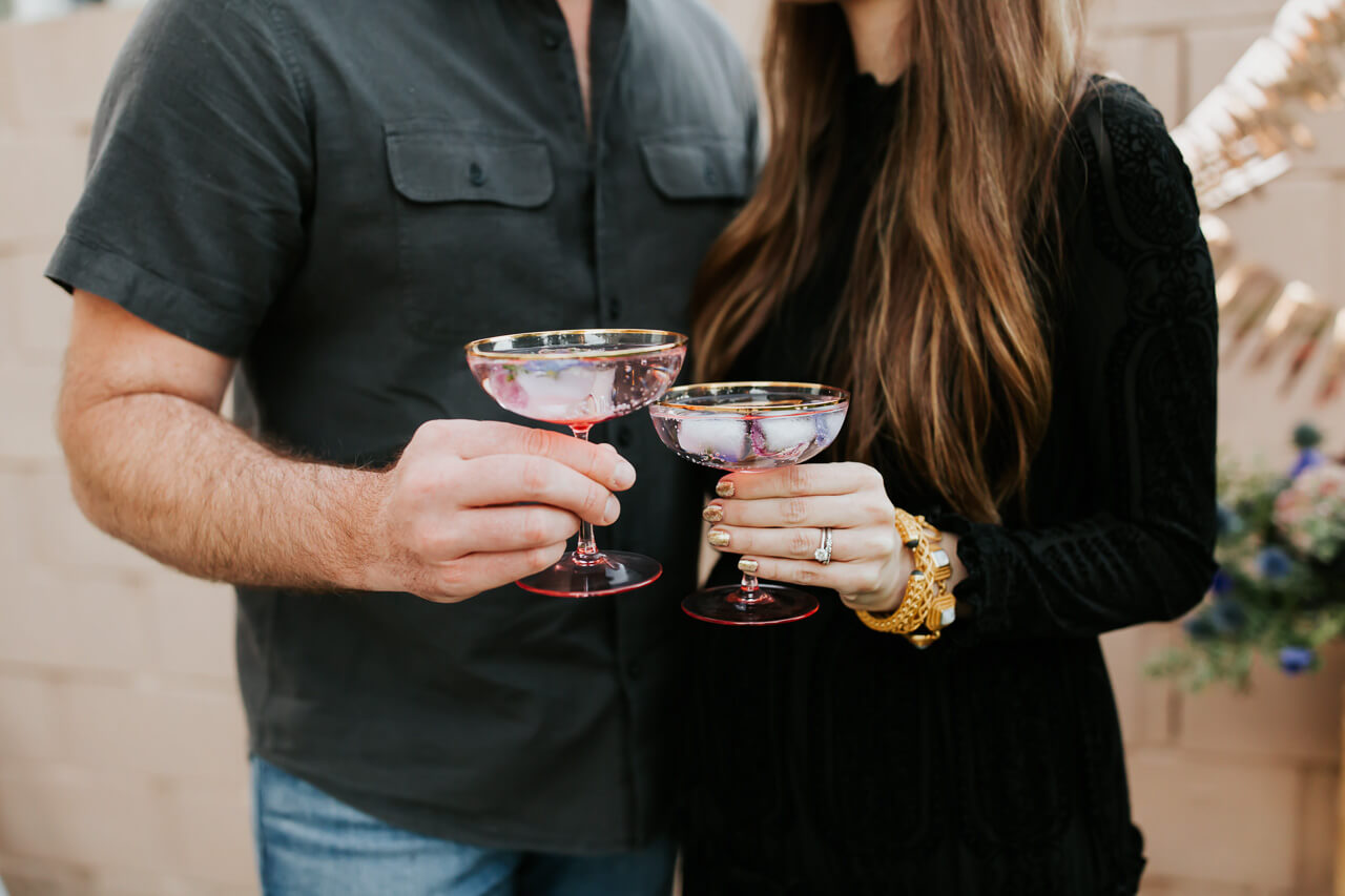 gender reveal mocktails - M Loves M @marmar