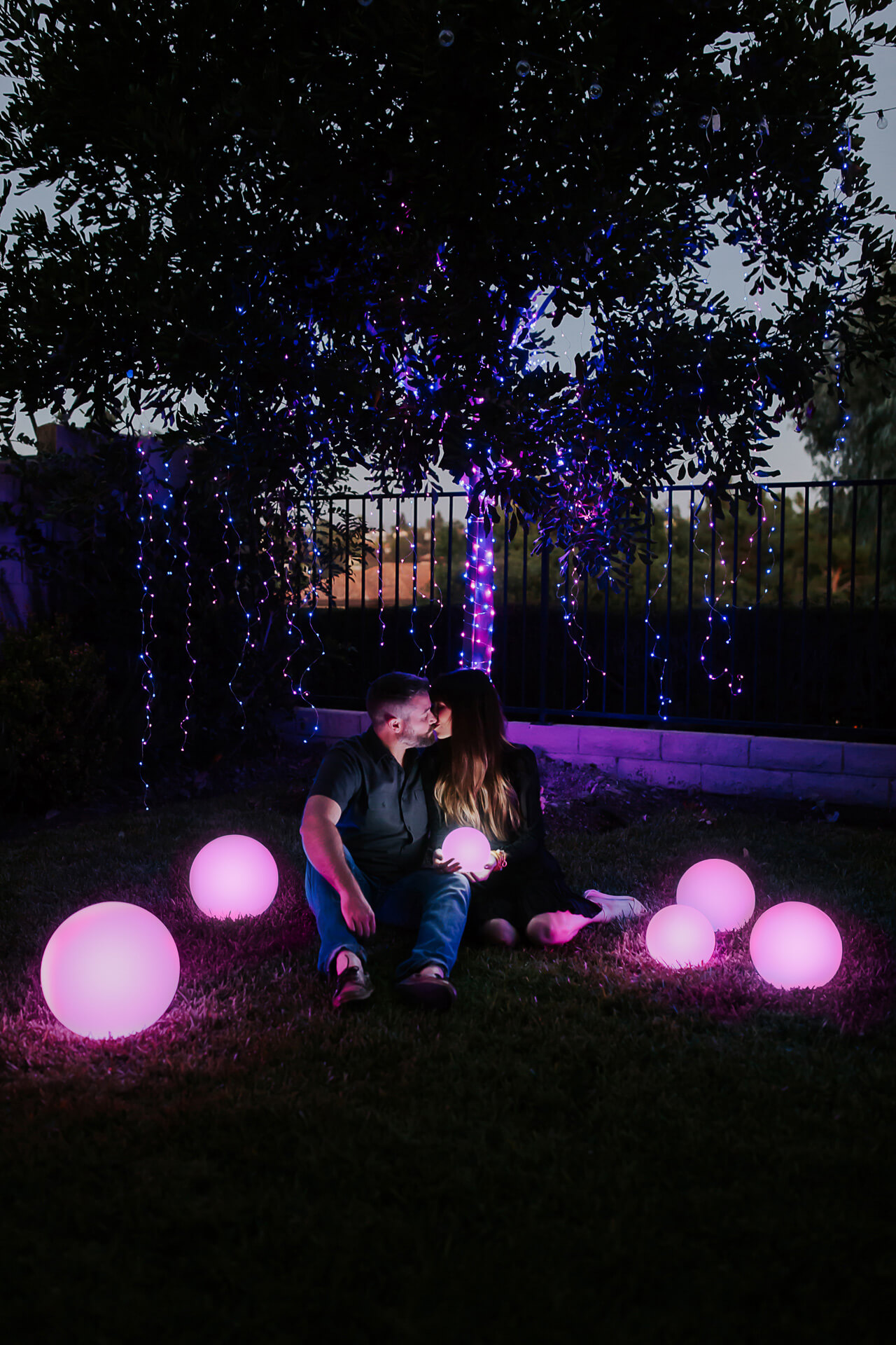 a unique nighttime gender reveal - M Loves M @marmar