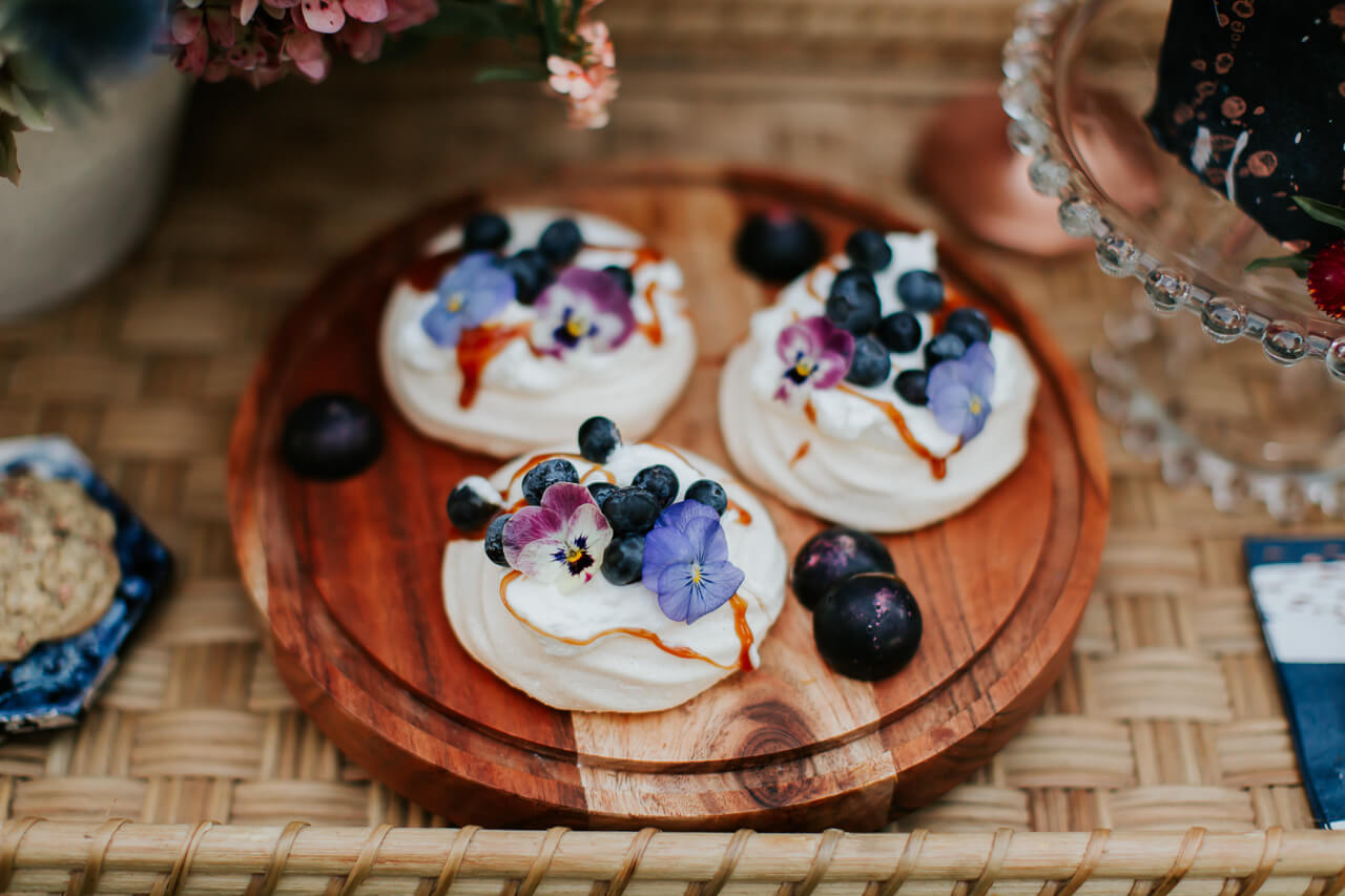 pavlova dessert for gender reveal by newfoodtuesdayz