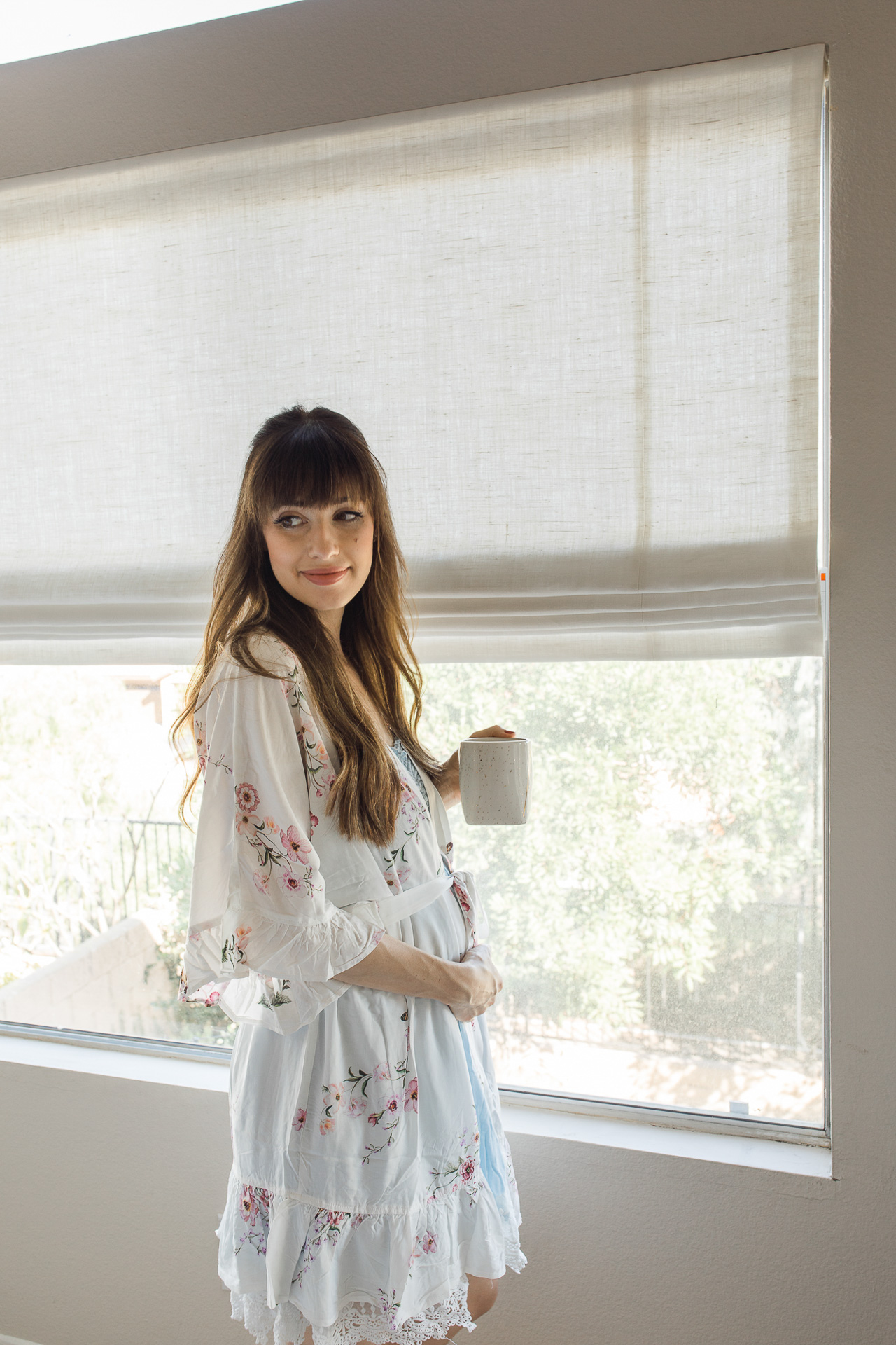 This white floral robe is so romantic! - M Loves M @marmar