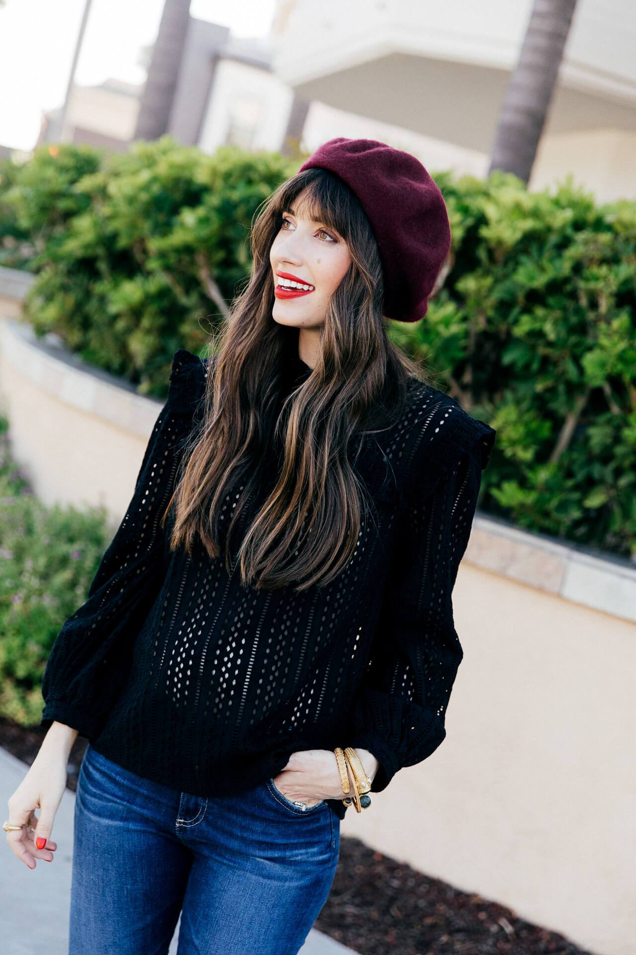 This black lace blouse from Madewell is so romantic! - M Loves M @marmar