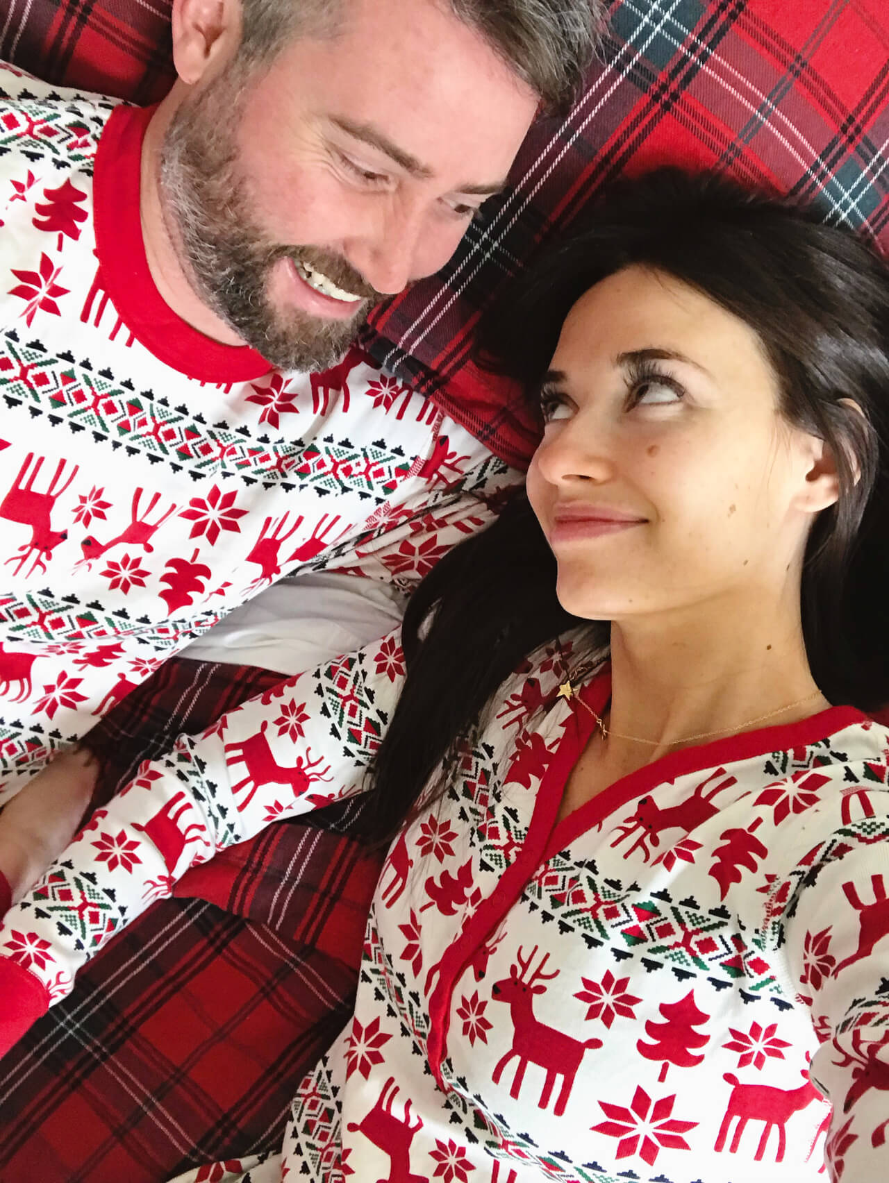 I love these matching couple holiday pajamas! - M Loves M @marmar