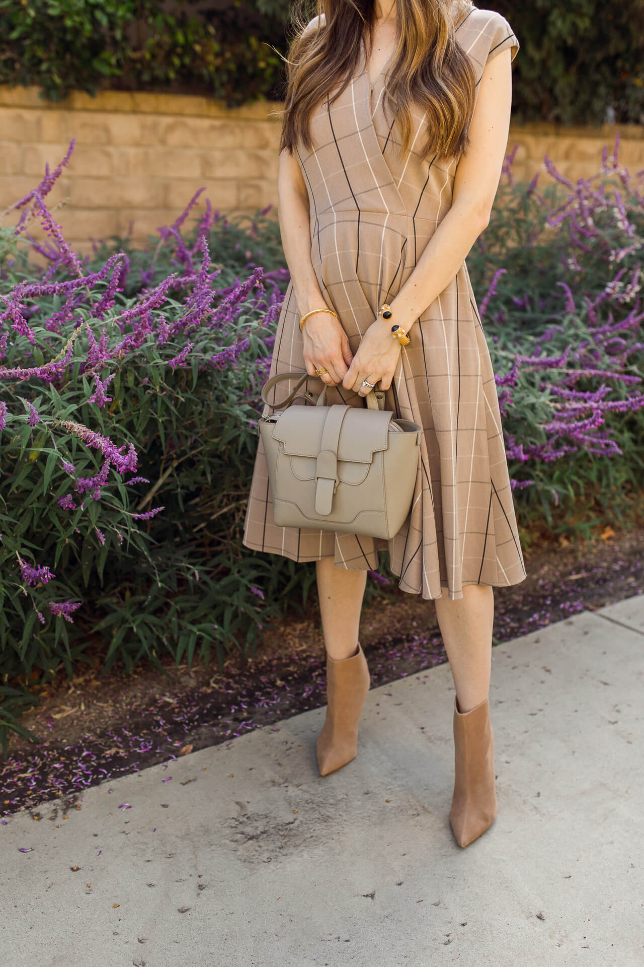 Nordstrom has the cutest Gal Meets Glam collection. Love this camel plaid dress! - M Loves M @marmar