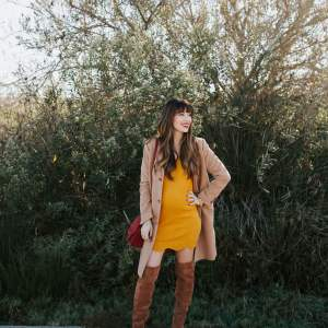 I love this yellow sweater dress! - M Loves M @marmar