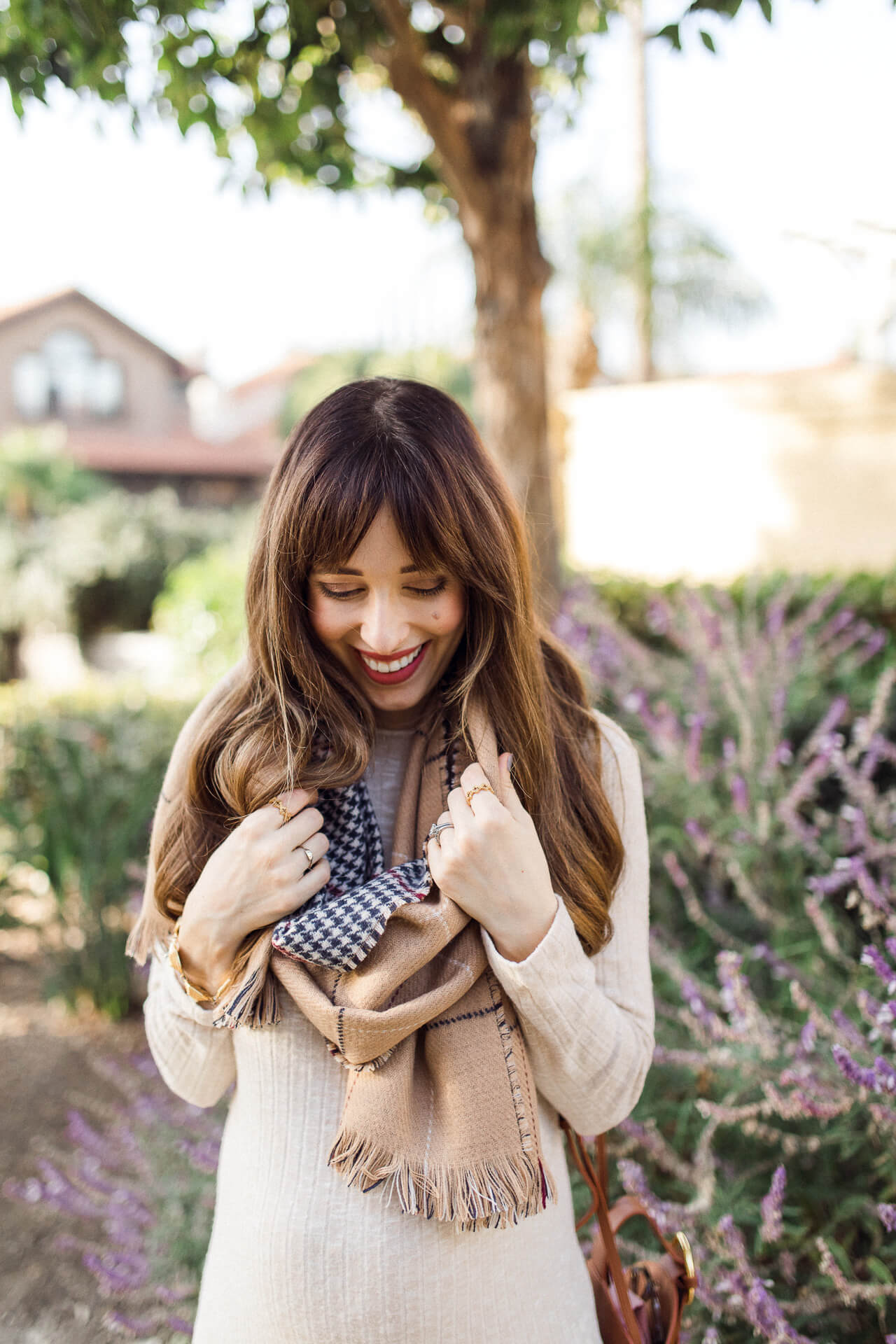This sweater dress and scarf combo is so cute! - M Loves M @marmar