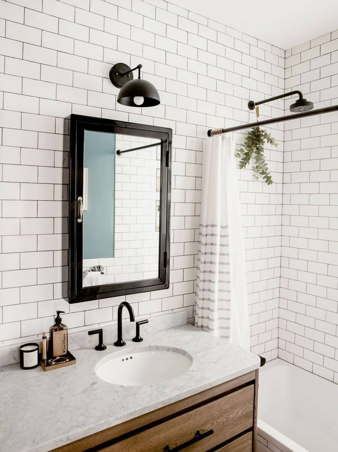 Love this white subway tile in the bathroom! - M Loves M @marmar