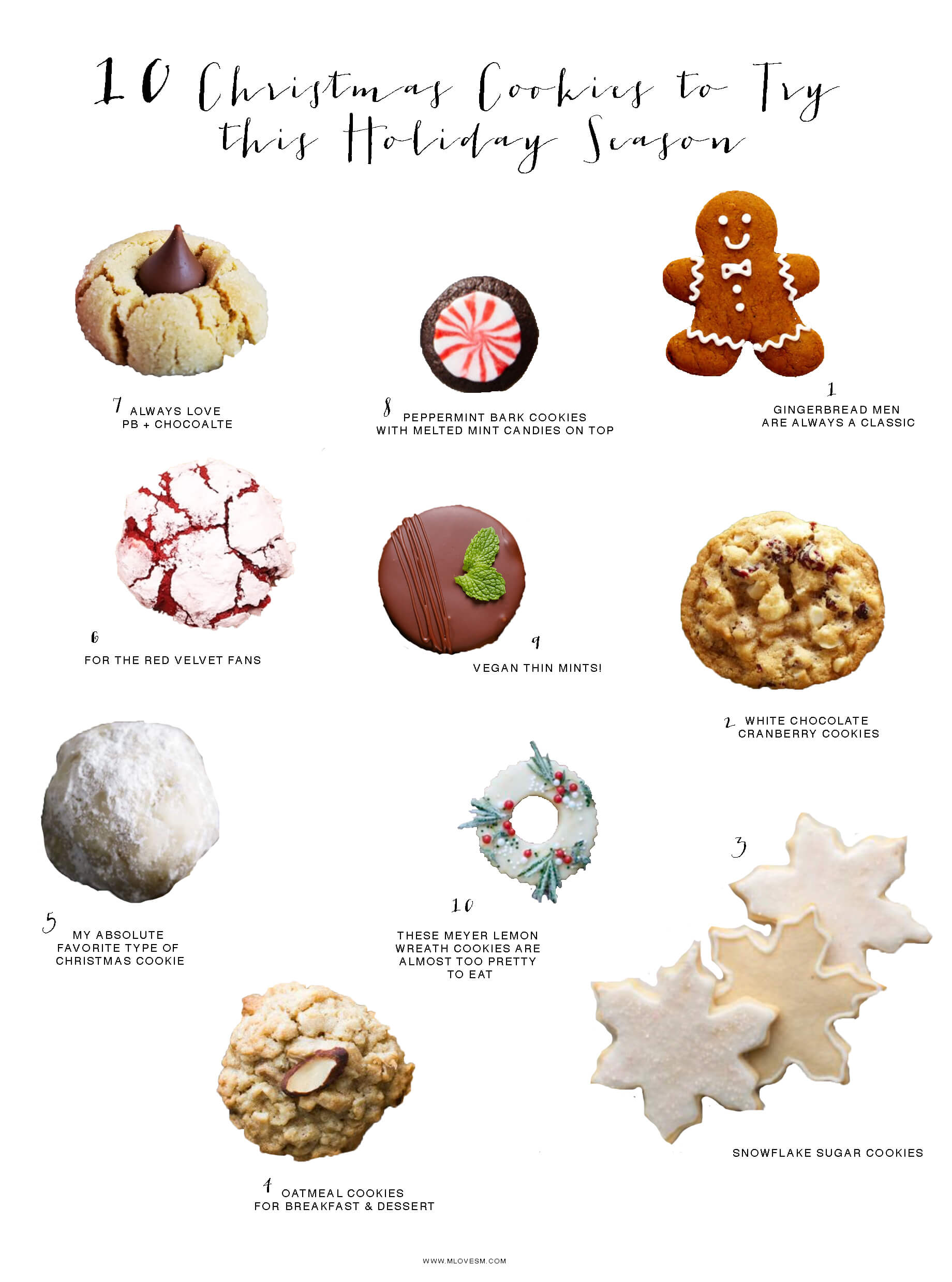 10 Christmas cookie recipes I'm dying to try this year! - M Loves M @marmar