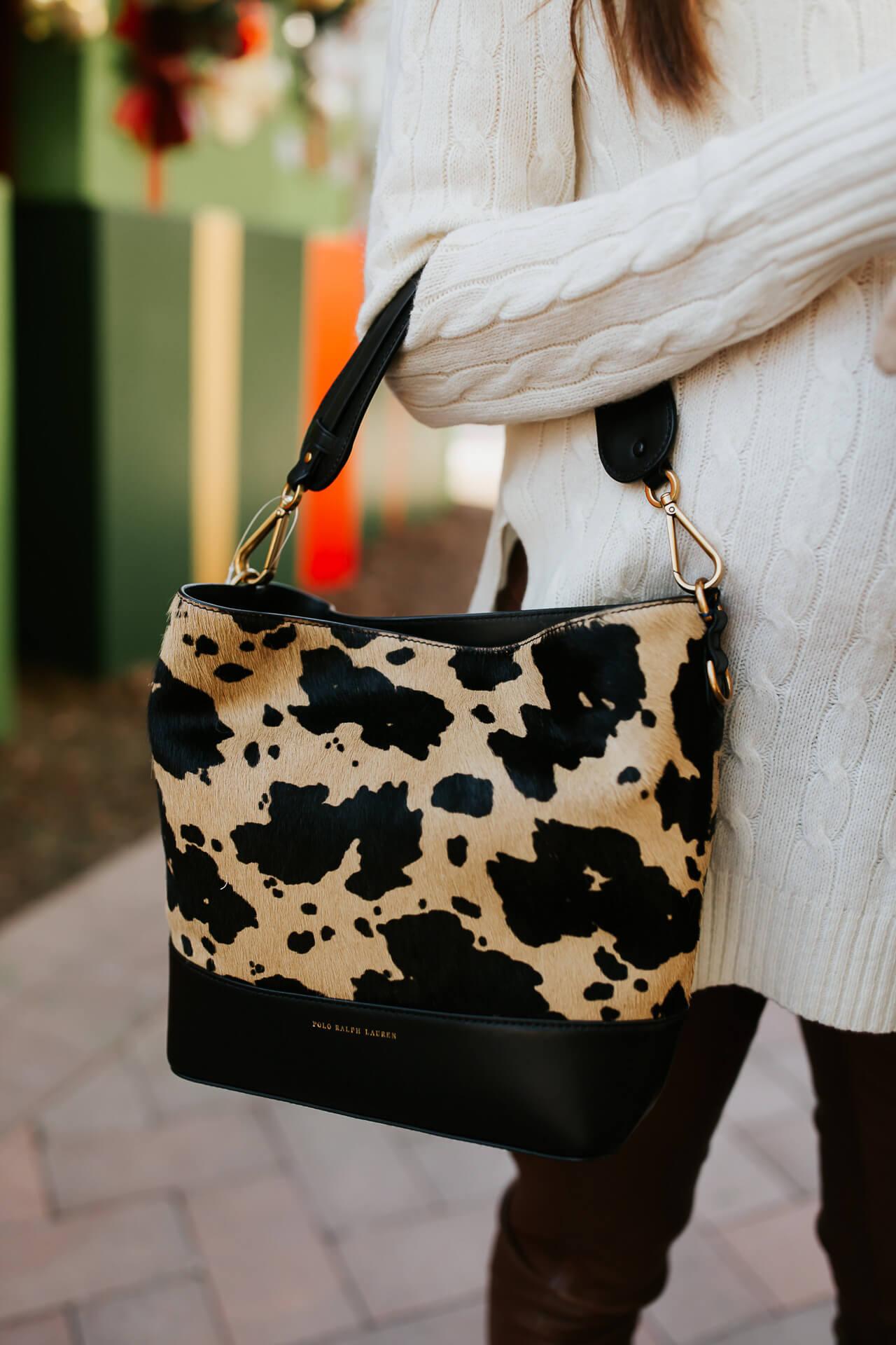 How chic is this Ralph Lauren calf hair bag?! - M Loves M @marmar