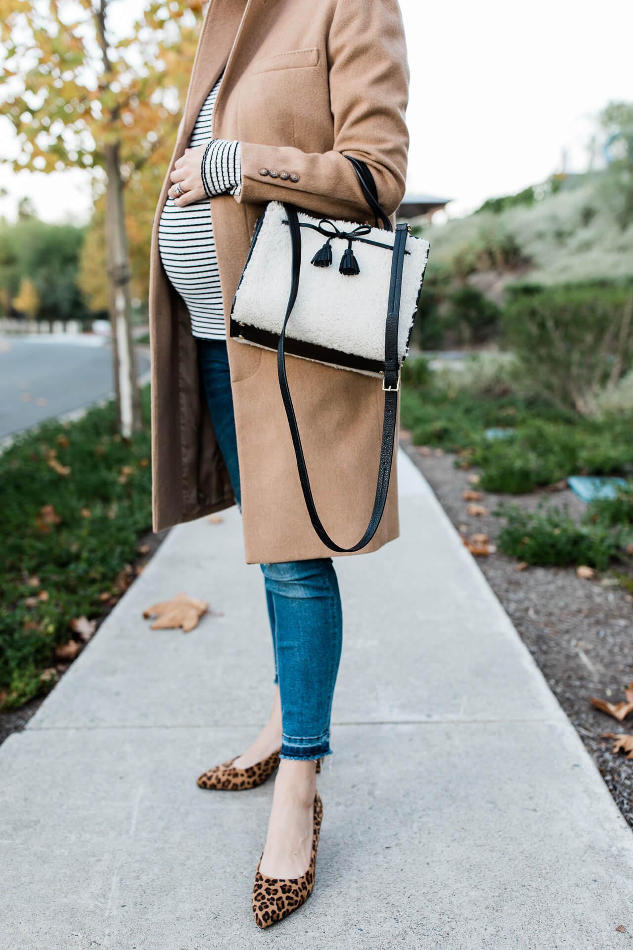 Kate Spade shearling handbag winter outfit. - M Loves M @marmar