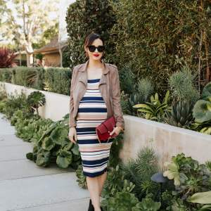 Striped bodycon dresses are so cute! - M Loves M @marmar
