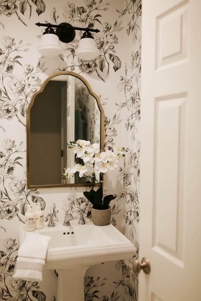 Our powder bathroom makeover reveal! - M Loves M @marmar