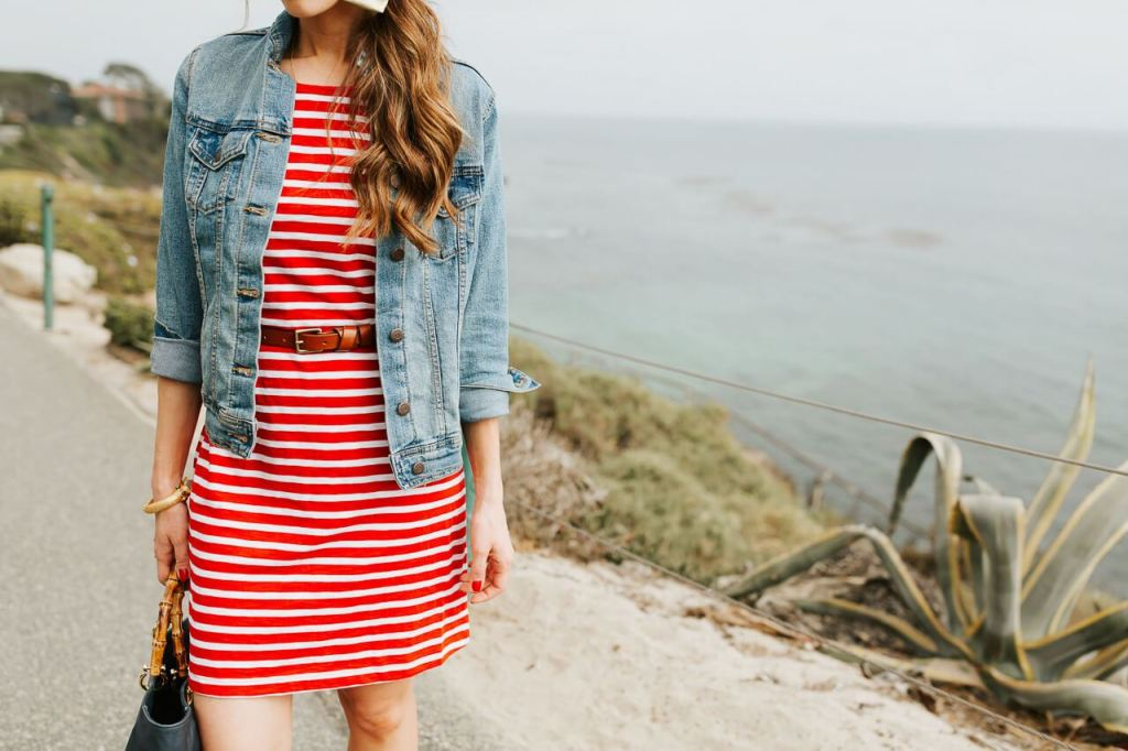 A denim jacket is a great spring transitional piece! - M Loves M @marmar