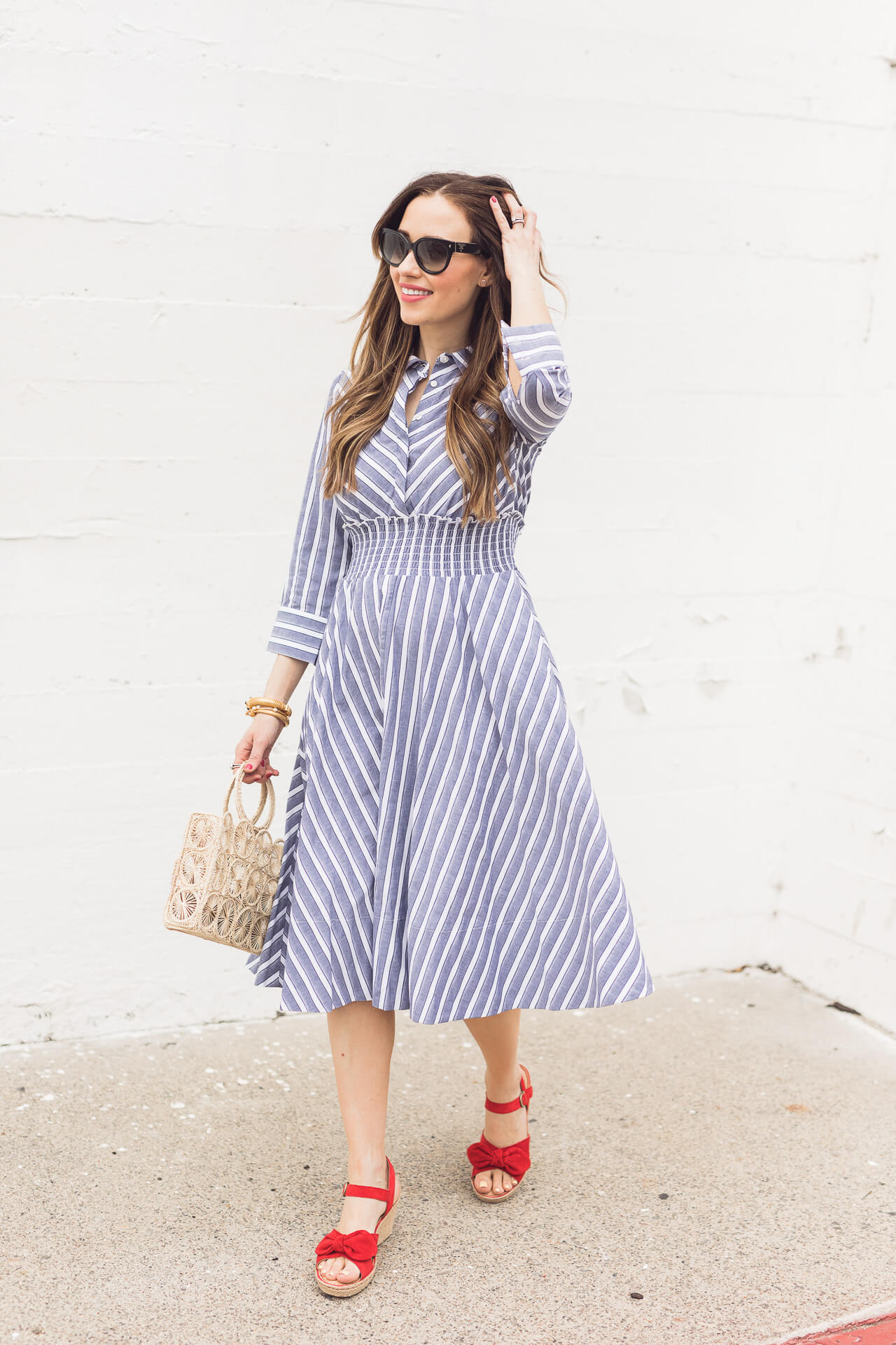 A blue shirtdress from Nordstrom! - M Loves M