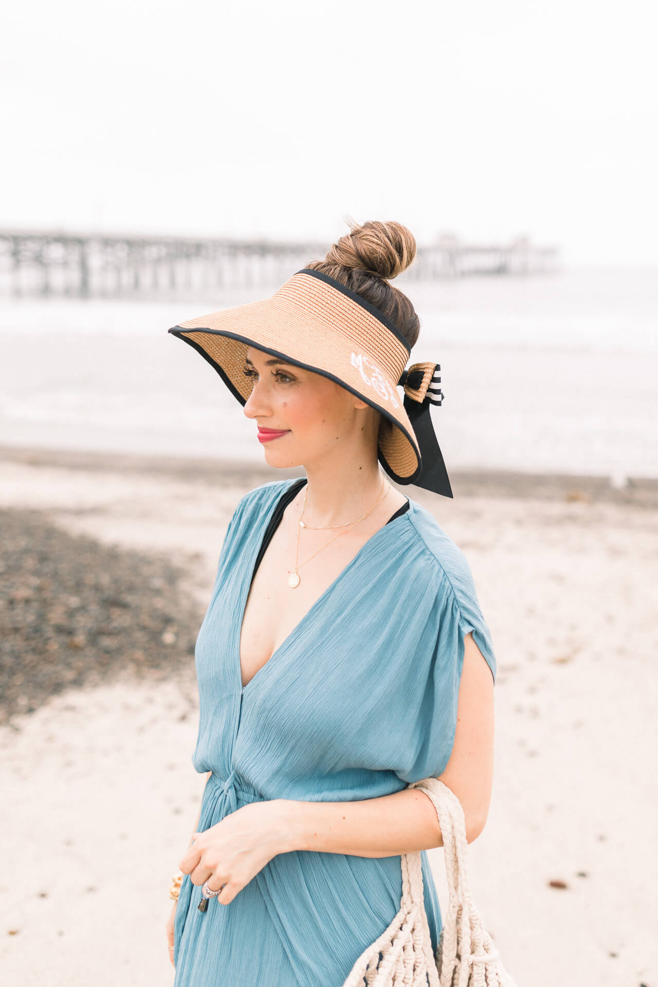 Cute straw hat visor for summer - M Loves M