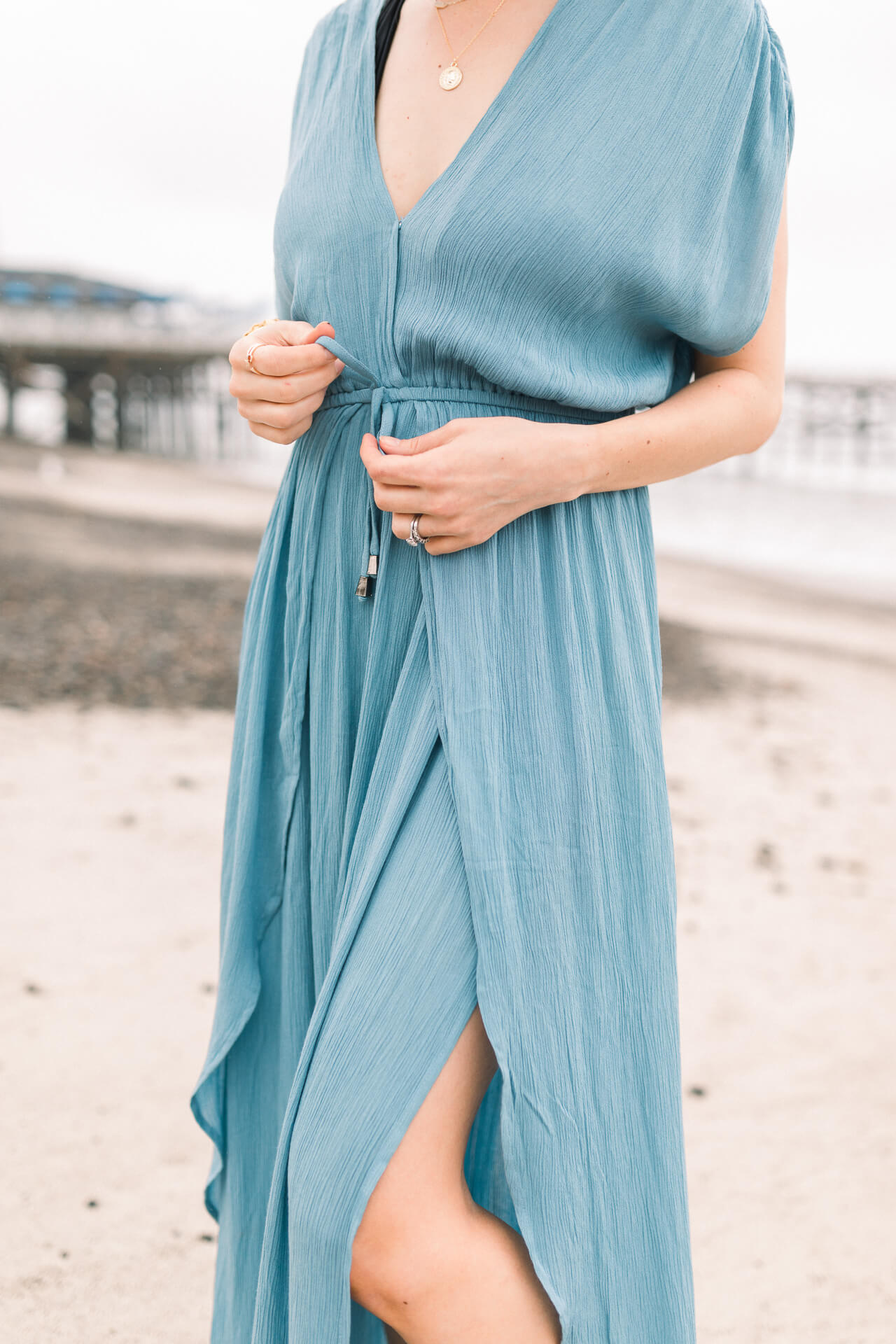 Adorable blue beach coverup - M Loves M