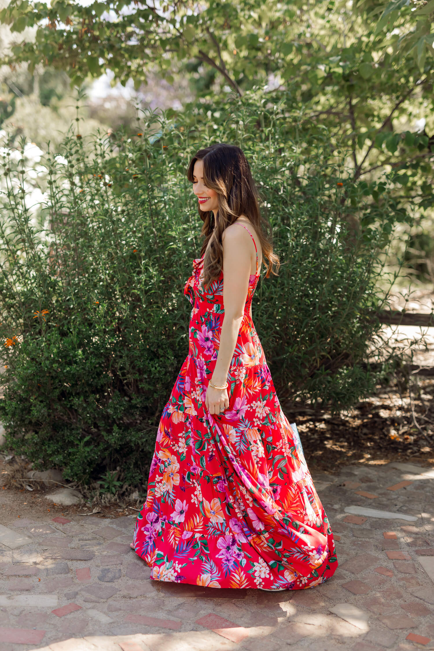 An Eliza B tropical print dress for your next vacation! - M Loves M