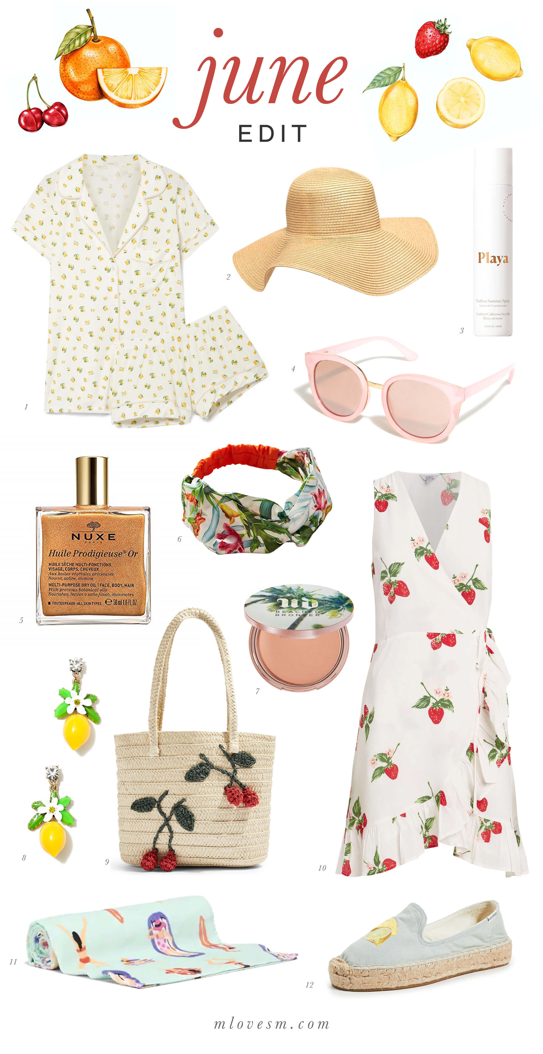 Love these fun fruity prints for summer! - M Loves M