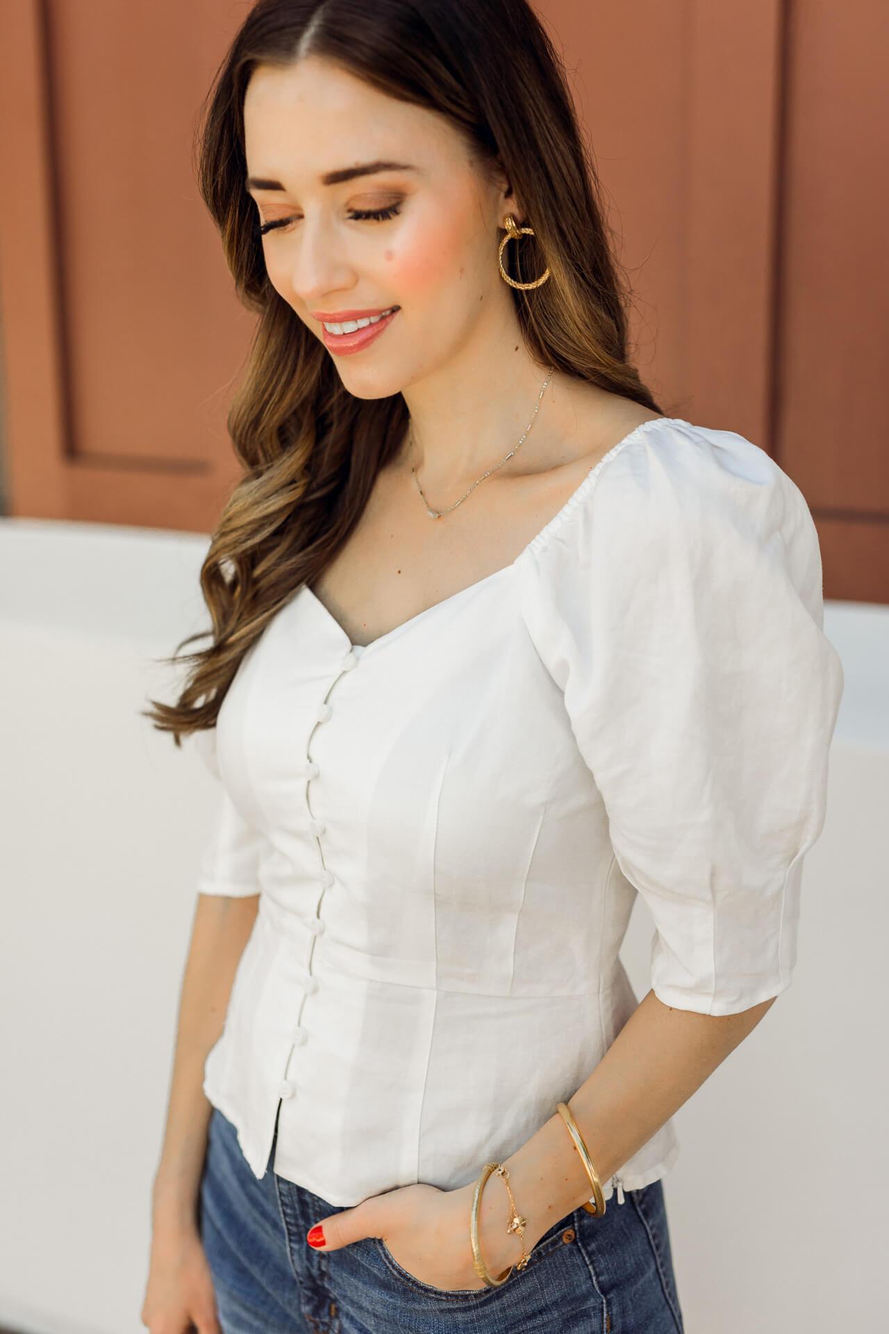 White puffy sleeve tops for summer! - M Loves M