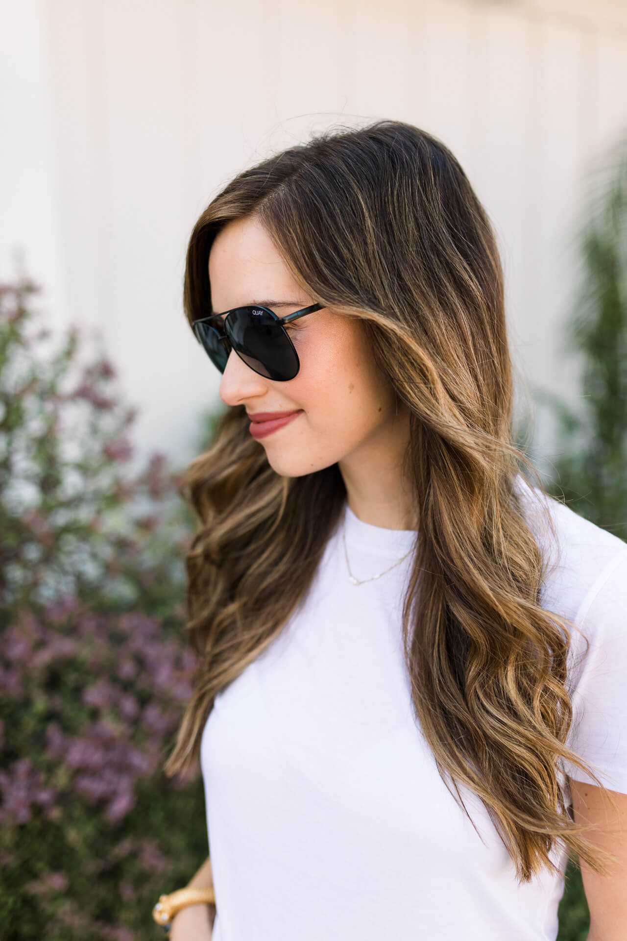classic aviator sunglasses with white t-shirt - M Loves M Los Angeles and Orange County fashion and lifestyle blogger @marmar