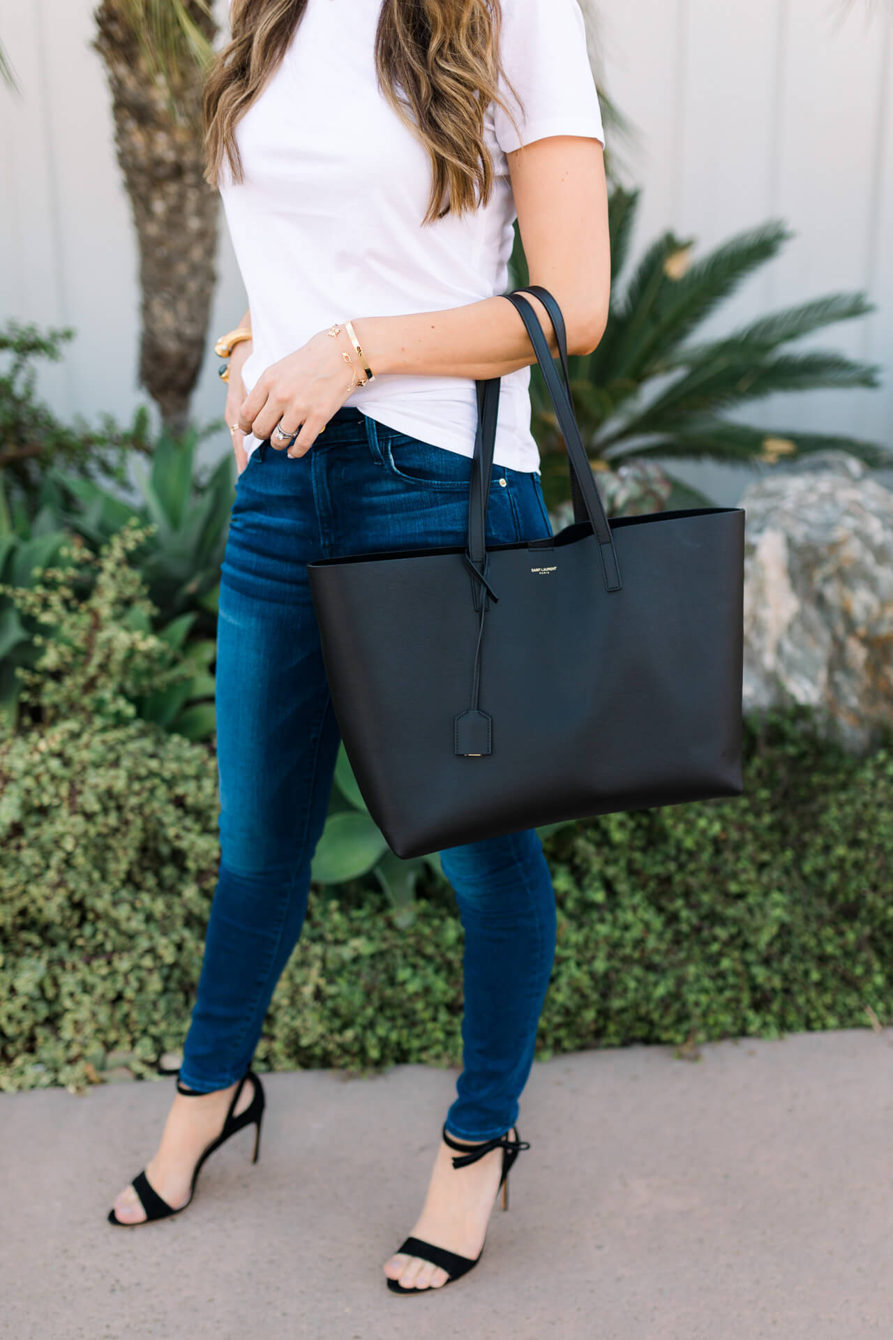 most flattering jeans from Frame with Saint Laurent tote bag - M Loves M Los Angeles and Orange County fashion and lifestyle blogger @marmar