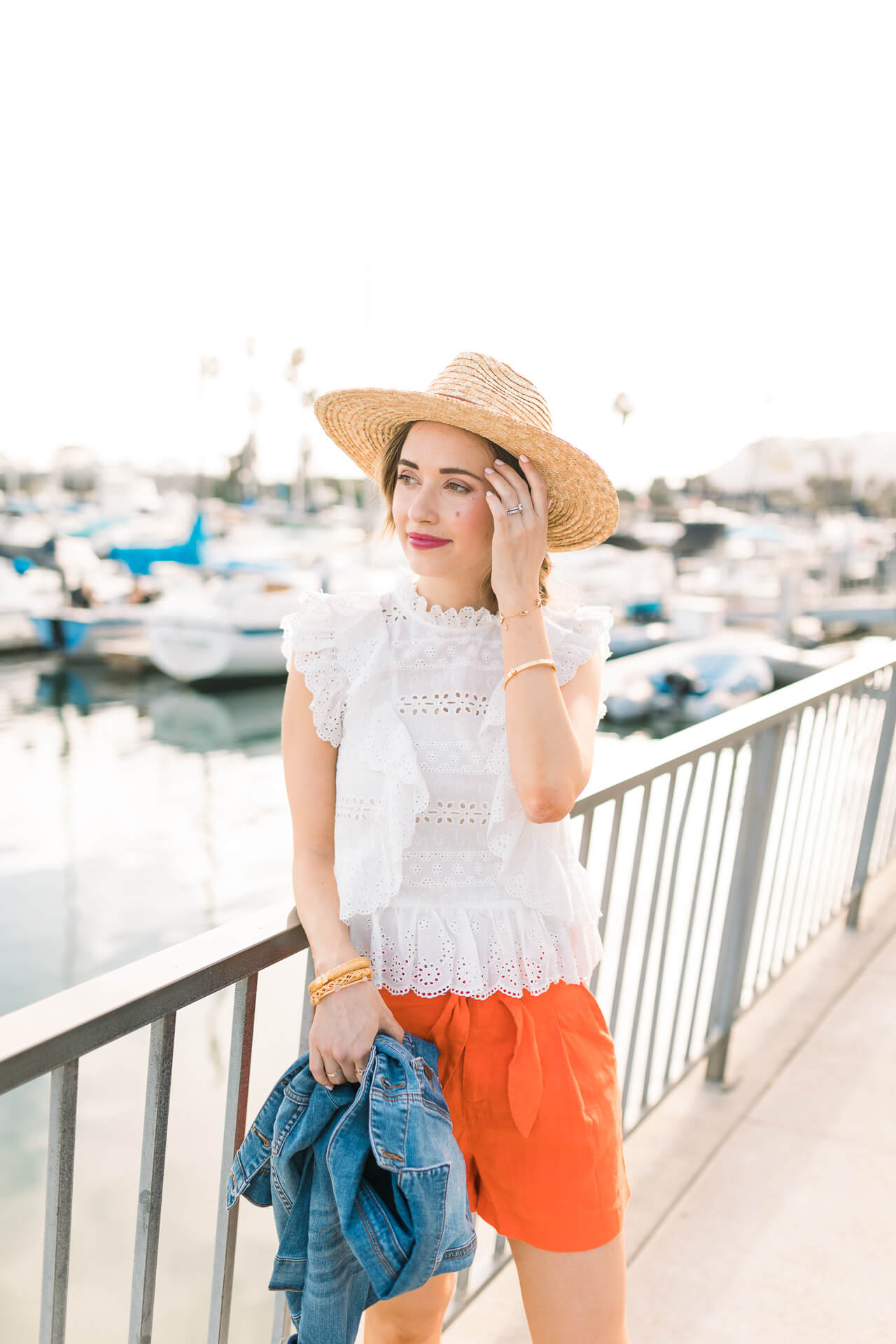 Love this white eyelet top for a summer outfit! - M Loves M @marmar