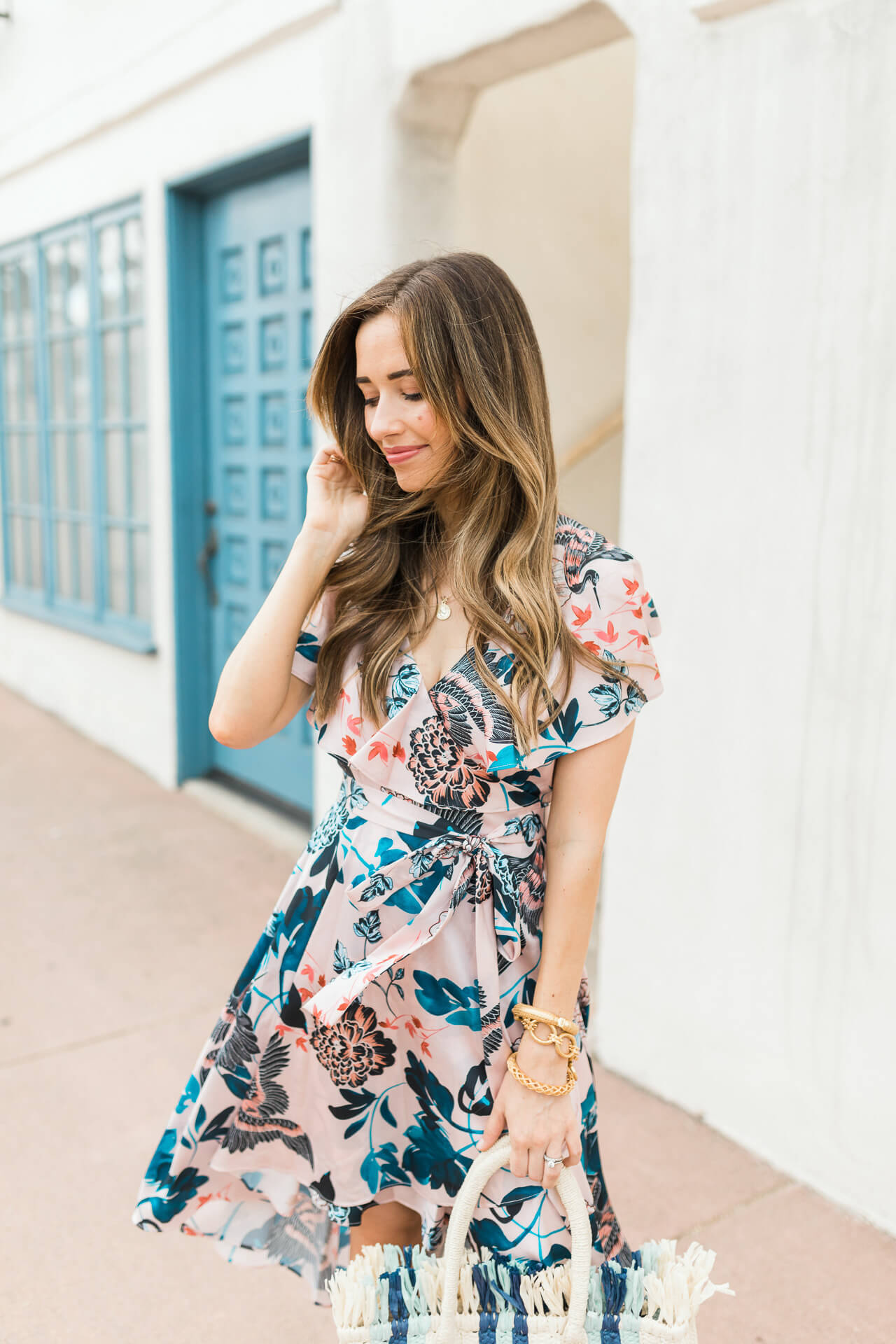 I am loving this pink floral dress from Eliza J! - M Loves M @marmar