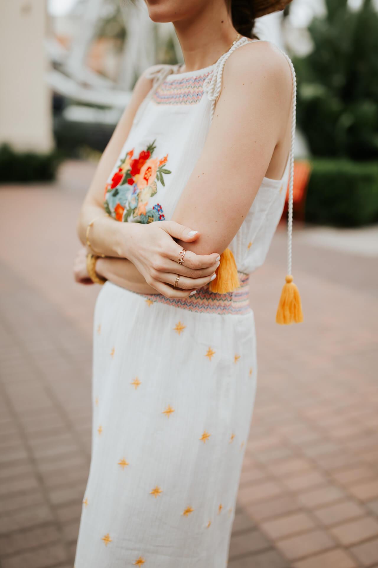 A pretty white embroidered maxi dress! - M Loves M @marmar