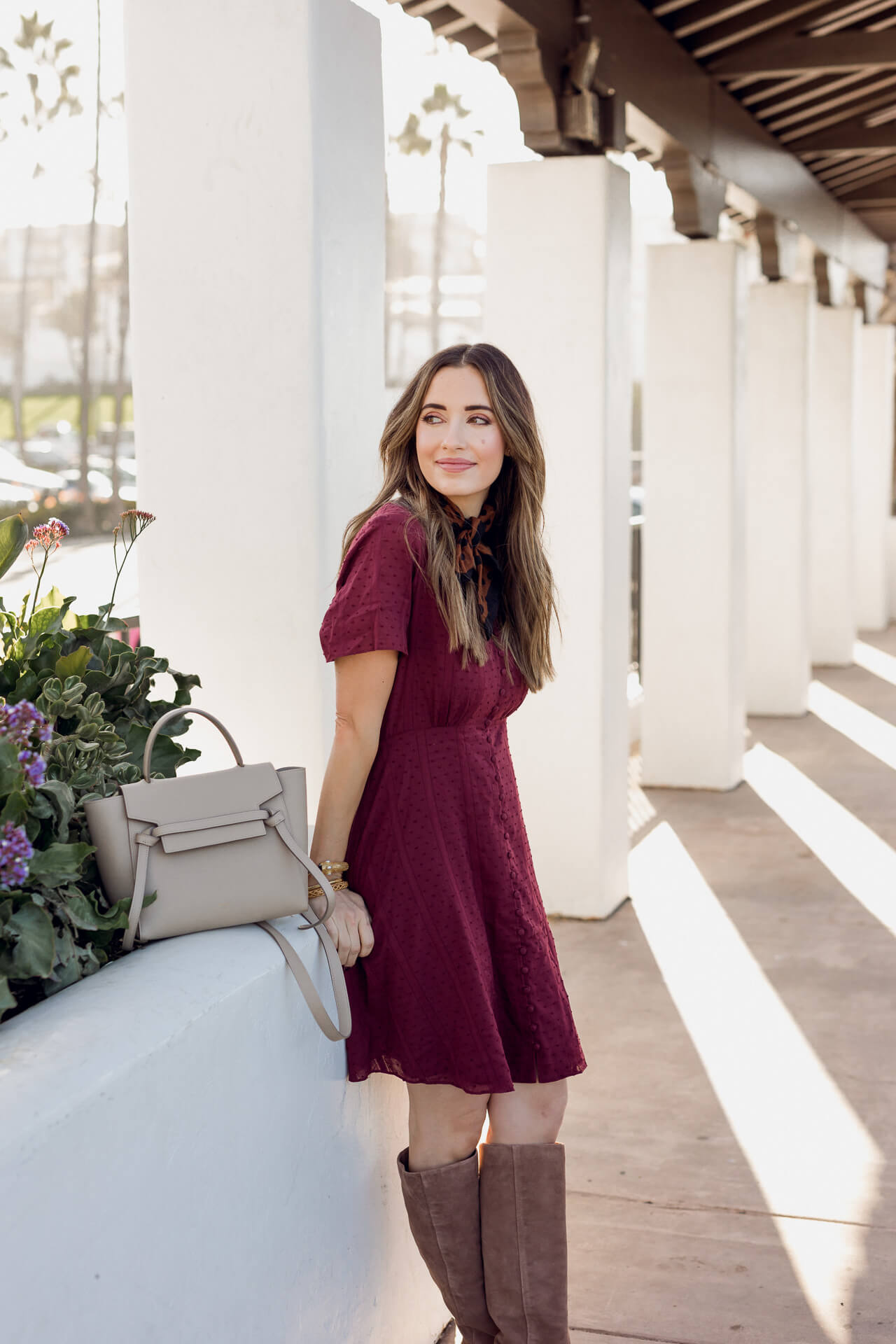 A burgundy dress from Madewell! - M Loves M @marmar