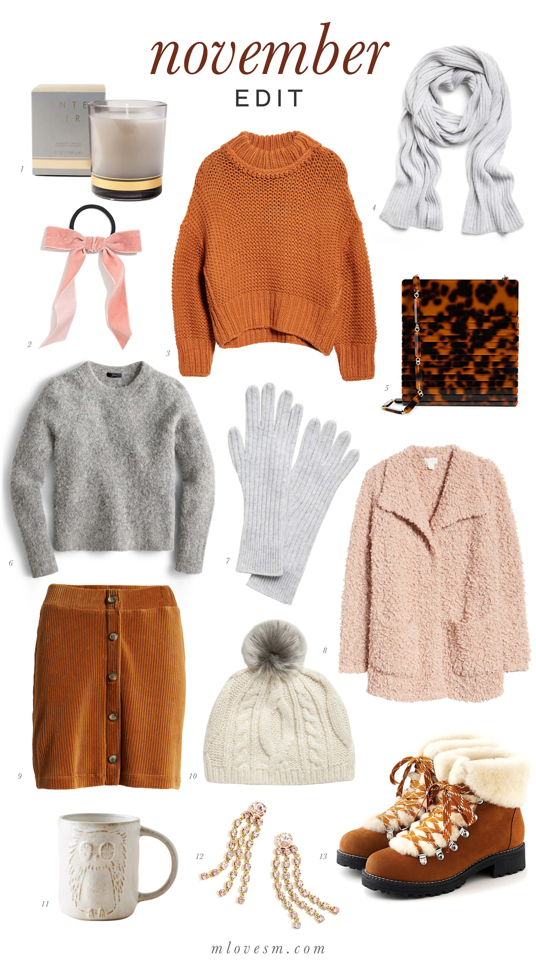 I love cozy textures for fall! - M Loves M @marmar