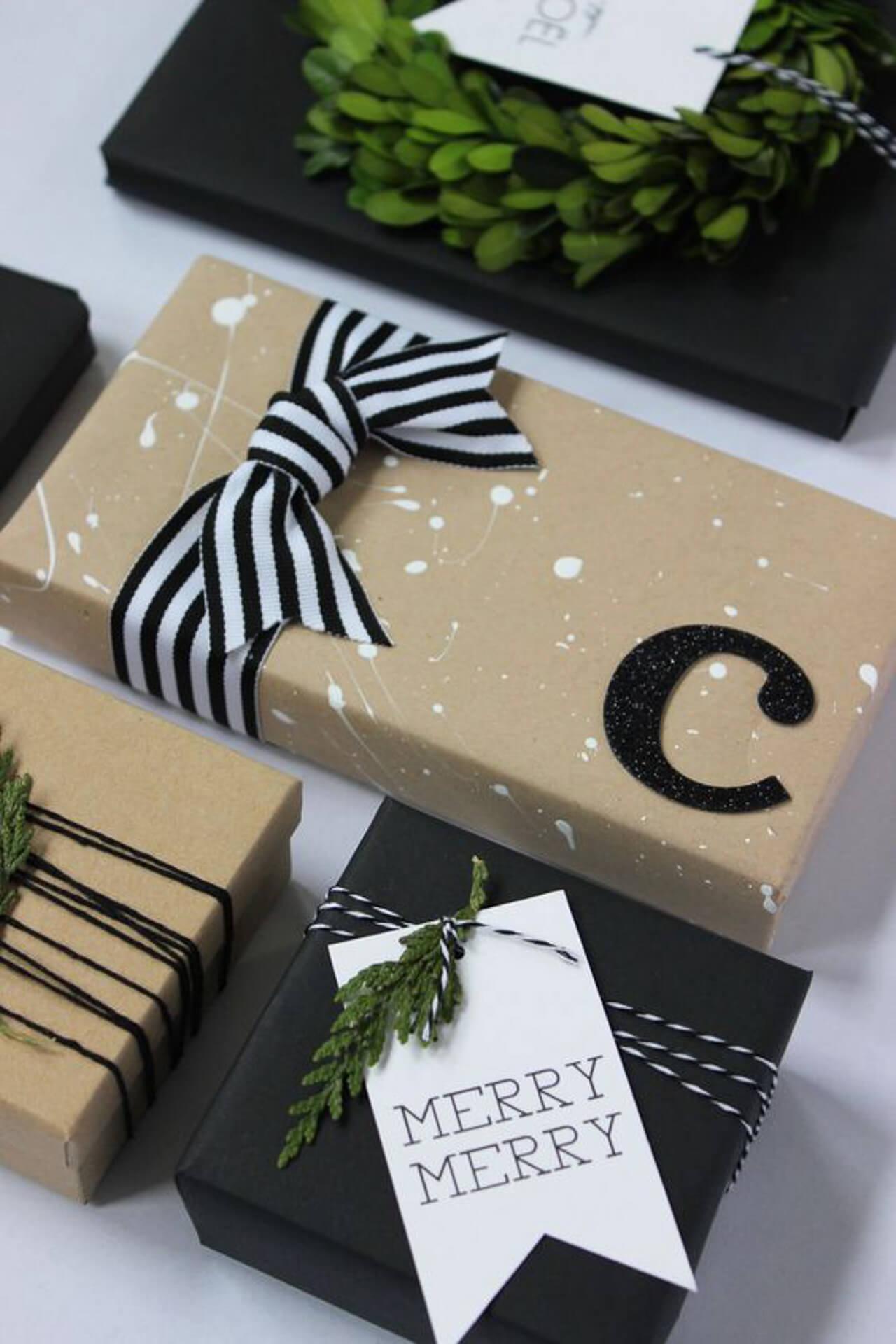 Some easy DIY gift wrap ideas! - M Loves M @marmar