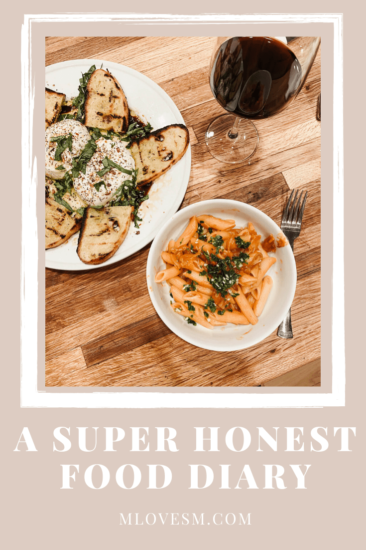 This is my super honest food diary! - M Loves M @marmar