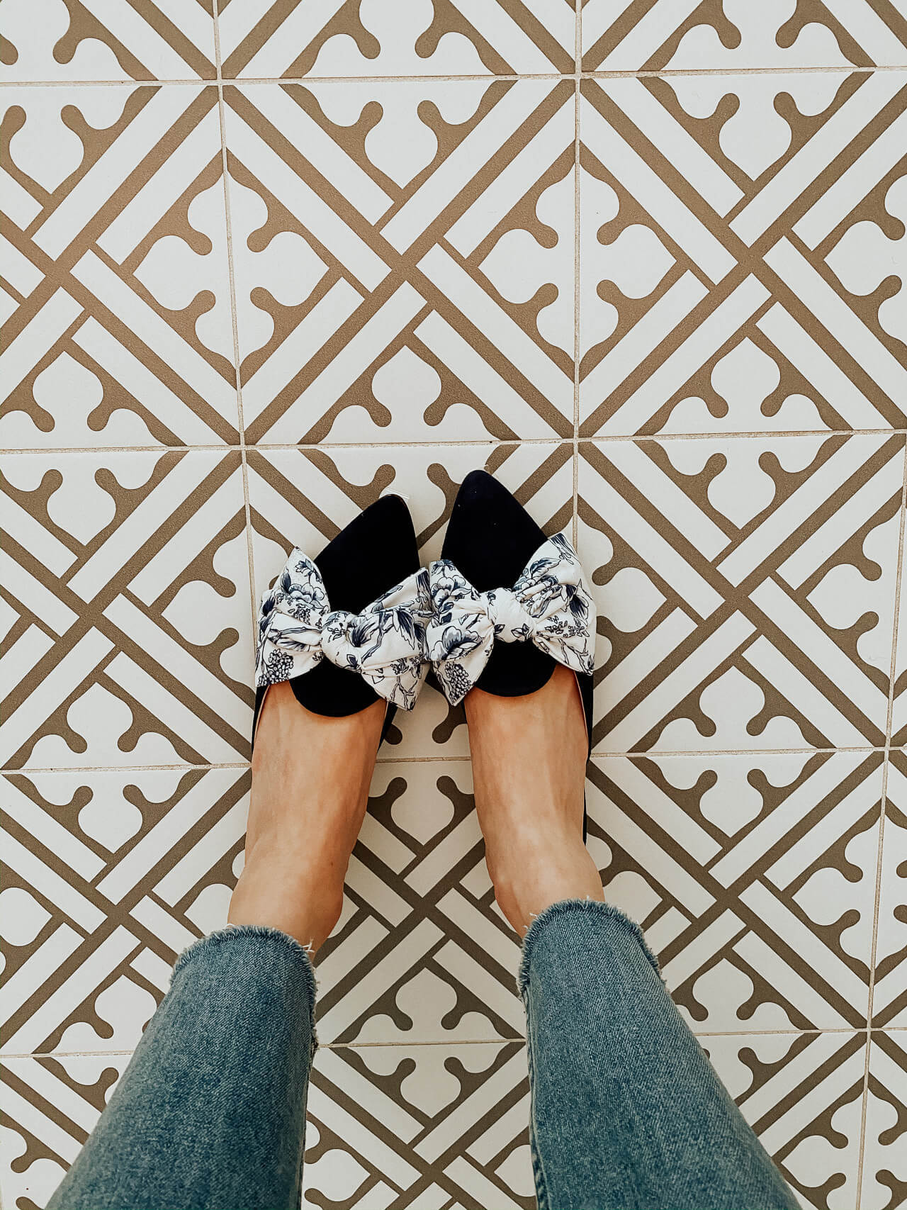 blue toile flats from gal meets glam margaux collection - M Loves M @marmar