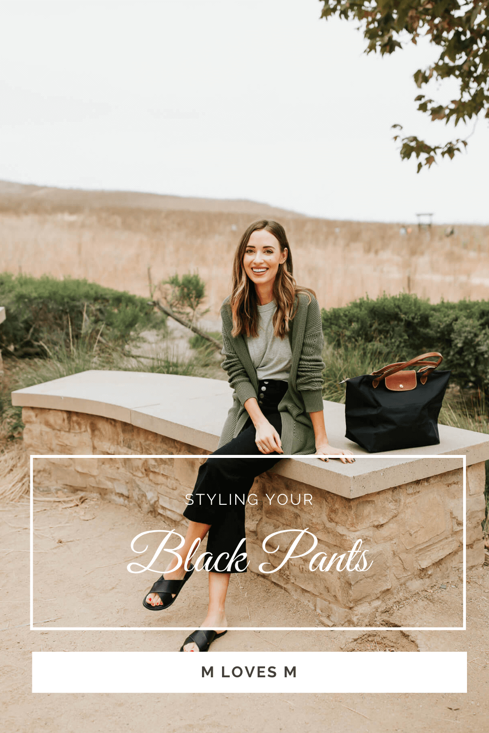 Styling black pants in fall