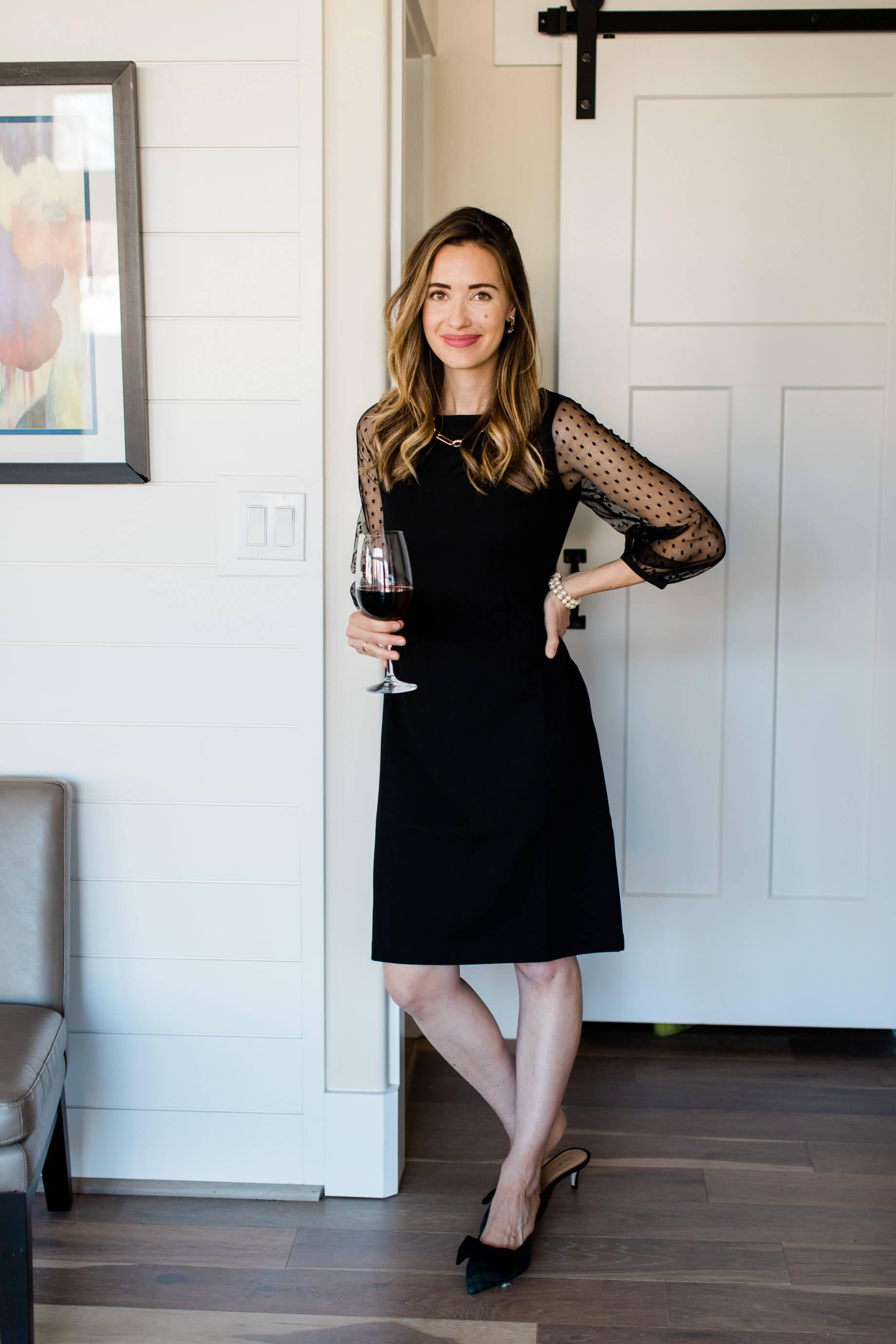 I love this mesh dot dress