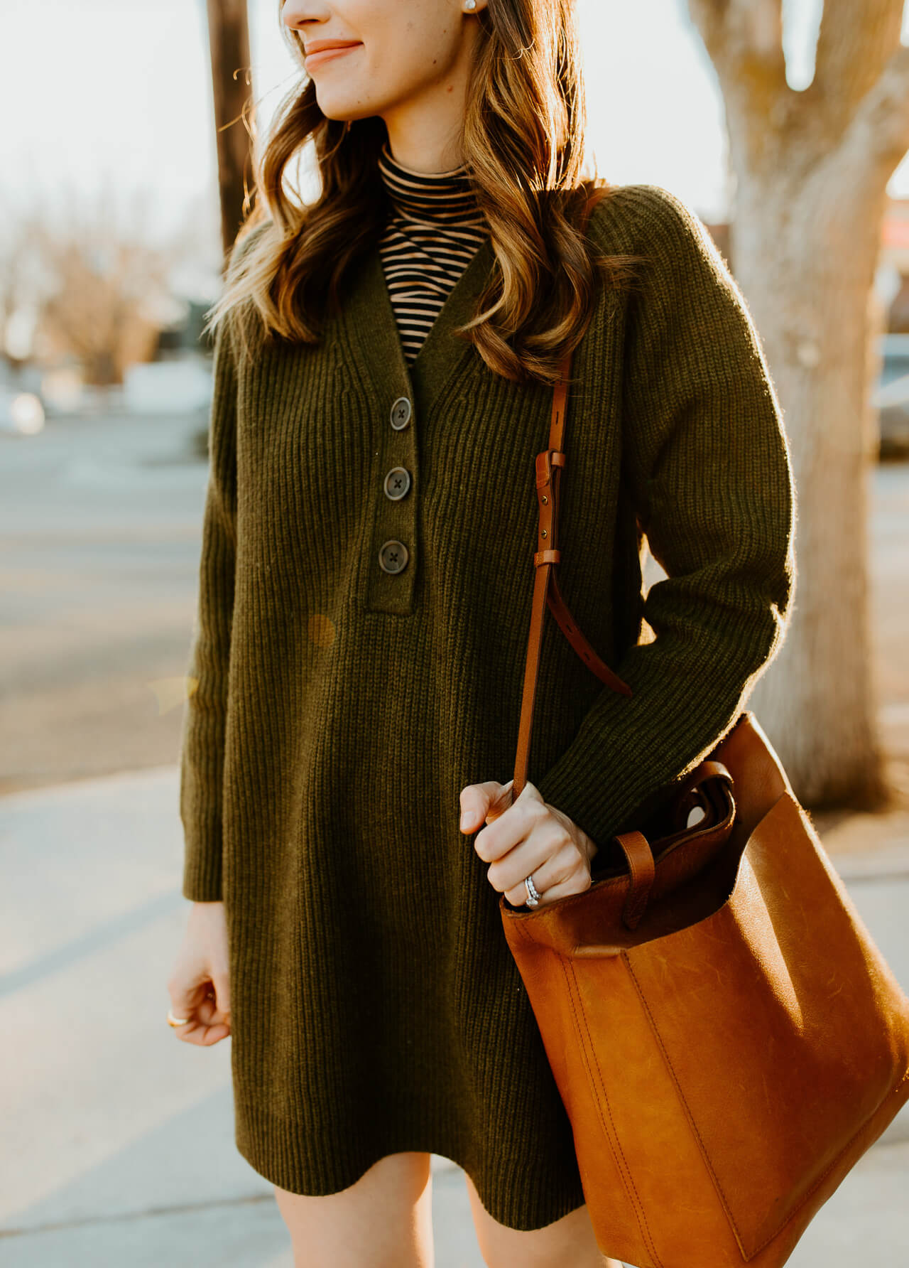 turtleneck layered with sweater dress - M Loves M @marmar