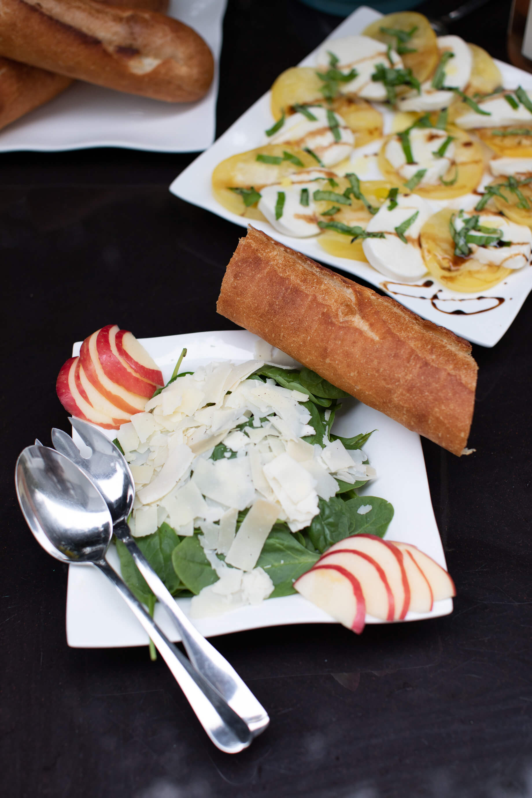 spinach salad with apples and parmesan - M Loves M @marmar