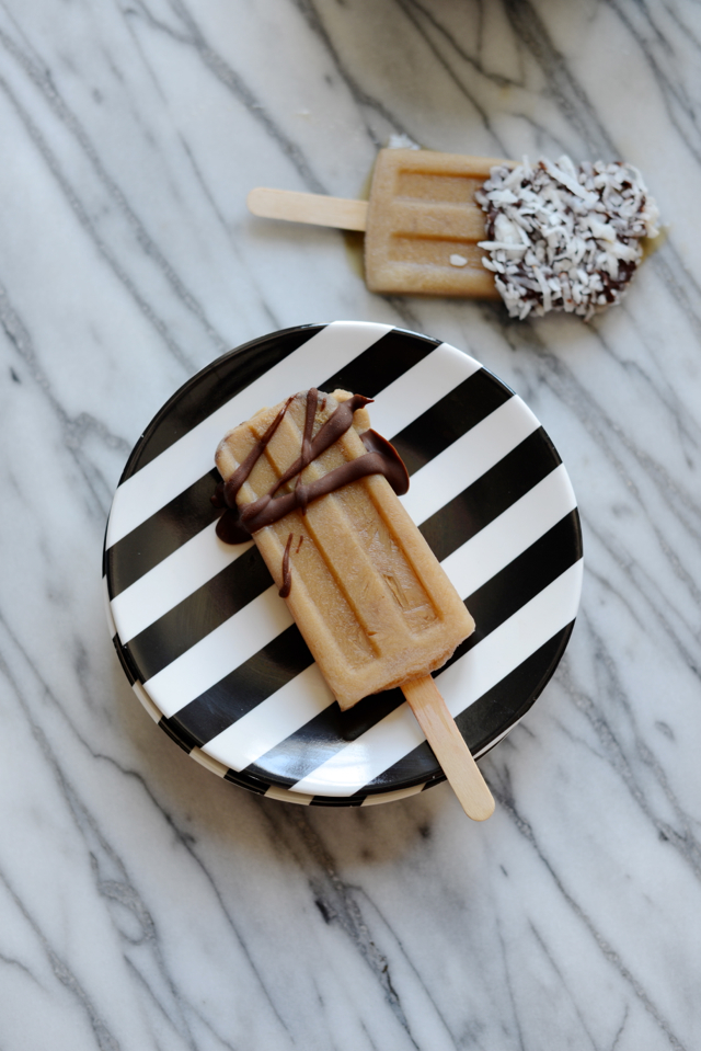 chocolate-dipped iced coffee popsicle recipe M Loves M @marmar