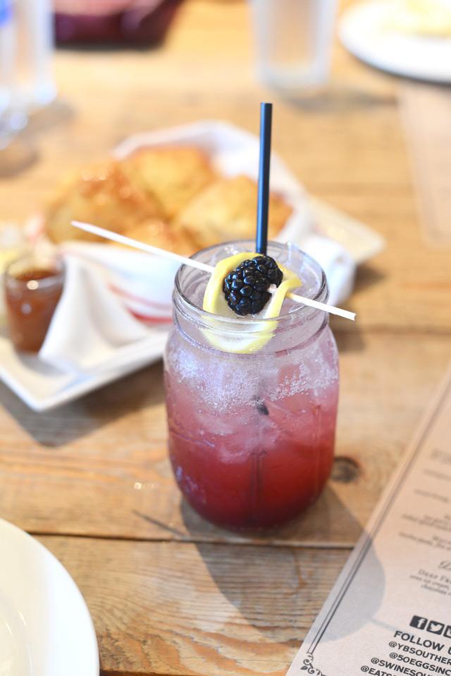 blackberry bourbon cocktail at yardbird M Loves M