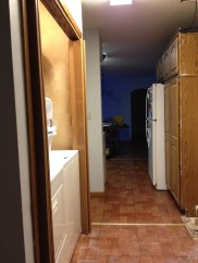 Laundry and closet and the non-functional pantry unit.