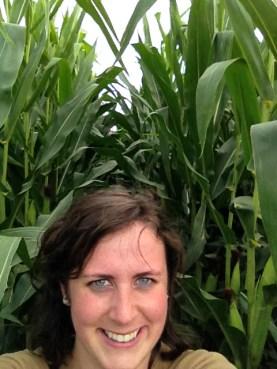 Tall corn selfie!