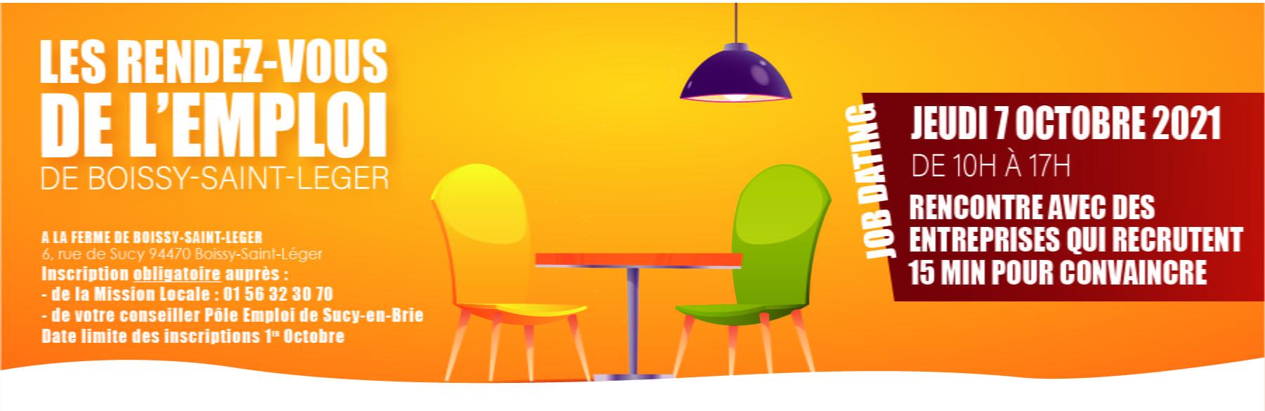 Read more about the article Jeudi 7 octobre 2021 de 10h à 17h, participez au JOB DATING à la ferme de Boissy-Saint-Léger – 6 rue de Sucy 94470 Boissy-Saint-Léger