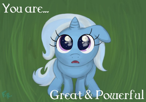 You are great and powerful Trixie art Visual Fan Art