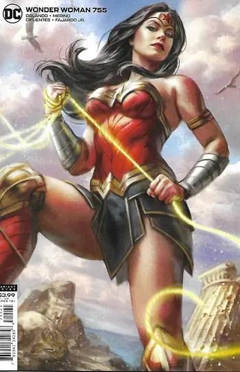 Couverture de variante Wonder Woman # 755