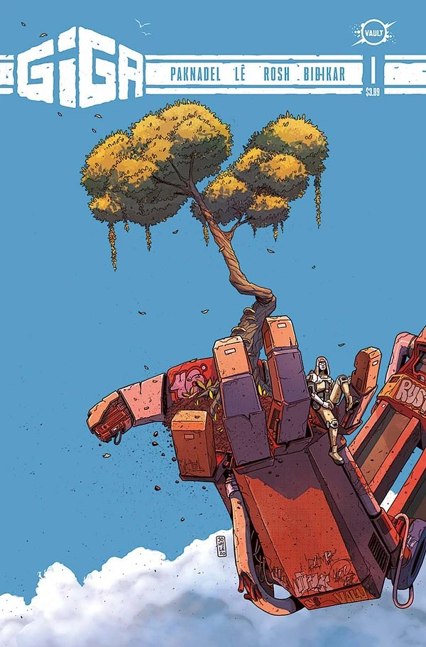 Giga artwork by Lê and Rosh from Vault Comics and the Hollywood Reporter.