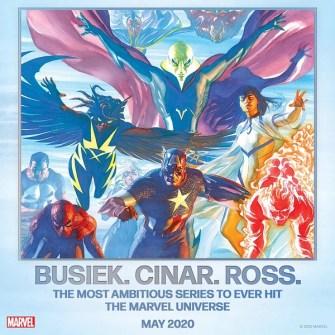 Kurt Busiek y Alex Ross hacen equipo para la serie más ambiciosa de Marvel Cómics