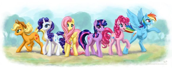 mane_6_by_kp_shadowsquirrel-d58tat2