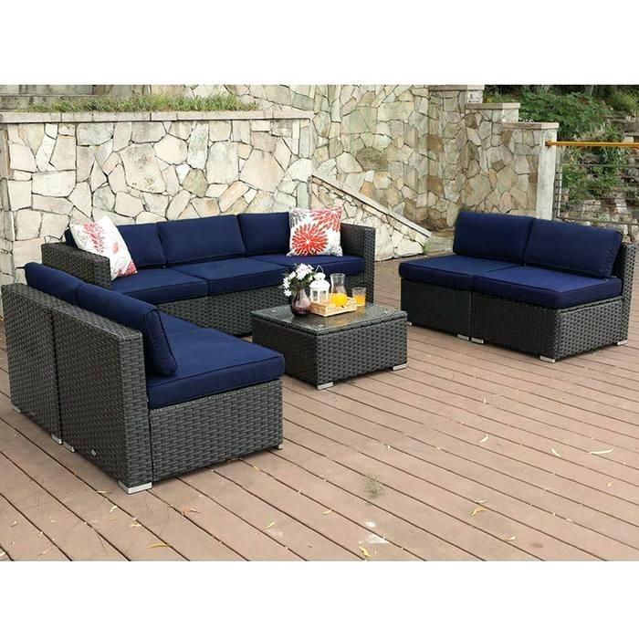 phi villa outdoor 7 piece wicker patio sectional sofa