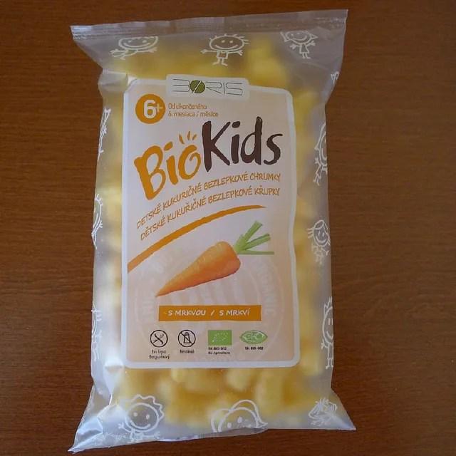 BIO dětské kukuřičné bezlepkové křupky s mrkví - bez lepku