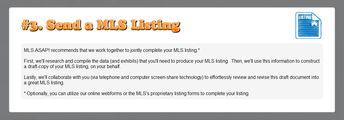 How to Get Listed in the MLS – Step #3: Send