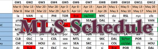 201 MLS Schedule